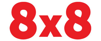 8x8 All in One Communications logo